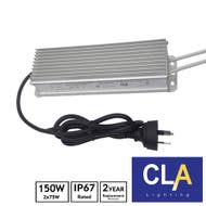 waterproof LED driver transformer 2 x 75W